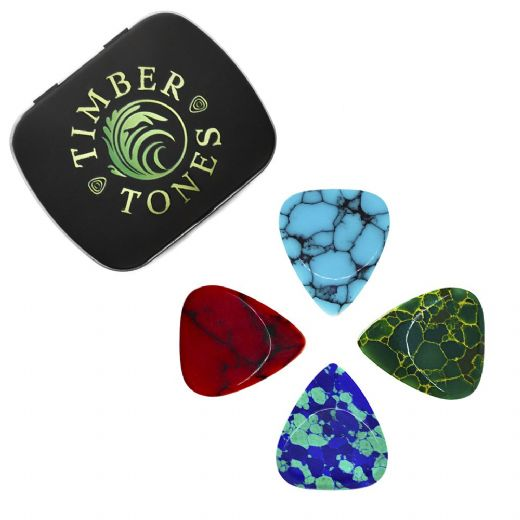 Stone Tones Mixed Tin of 4 Guitar Picks